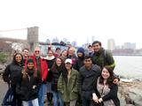 Professor Maurice Isserman and students in the Program in New York City visit Brooklyn.