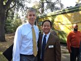 Secretary of Education Arne Duncan and Professor Steven Yao.