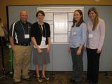 Mark Oakes, Jean Burr, Stephanie Anglin '10 and Meredith Kivett '10 at the Conference on Relational Aggression