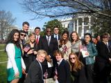 Hamilton Program in Washington students at the White House arrival ceremony for British Prime Minister David Cameron on March 14.