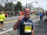 Dave Stone '88 at the Boston Marathon