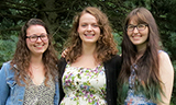 Elizabeth Buchanan '15, Katherine Delesalle '14, and Allison Schuette '16.