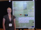 Sarah Fobes '12 at the International Conference on Luminescence.