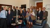 Students in Hamilton's Program in Washington, D.C. with U.S. Rep. Richard Hanna, left.