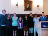 Inductees of Lambda Pi Eta.