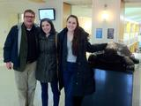 Chaise LaDousa with Paige Cross '13 and Anna Zahm '13 at the NEAA Conference.