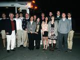 Students in the fall 2010 Program in New York with Rob Morris '76.