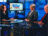 Ambassador Walker '62 (center) on CNN with Candy Crowley and Ambassador Negroponte