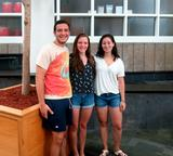Timothy Cowan '15, Kelly Osterling '15, Samantha Sherman '15.