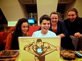 Philanthropy Committee members Jose Vazquez '15, Ashlie Flood '15, Suzanne Jacobson '15 and Emily Rivera '16.