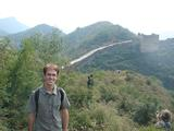 Randy Telfer '12 at the Jinshanling site of the Great Wall of China in Beijing