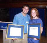 2010 Jack B. Riffle Award winners John Lawrence '10 (left) and Liz Rave '10.