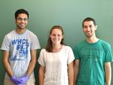 Ravi Jariwala '13, Rachel Green '14 and Matthew Therkelsen '12.