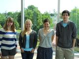 Elly Field '13, Kathryn Steck '12, Amy Dow '12 and David Schwartz '13.