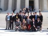 Program in Washington students gather on the steps of the Supreme Court.