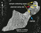 LANDSAT satellite view of Seymour Island