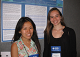 Tshering Sherpa '16 and Elisabeth MacColl '16 at the FASEB Conference
