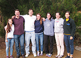 left to right: Nora Boylan '15, Professor Matt King, Ted Clemens '14, Hannah Wagner '15, Katie Smith '13, Becca Straw '14, and Isabelle Weisman '15