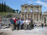 The group by the great library of Celsus at Ephesus