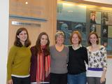 From left, Olivia Wolfgang-Smith '11, Courtney Flint '11, Sharon Williams, Maeve Gately '12, Allison Eck '12.