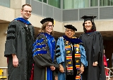Professors Max Majireck, Courtney Gibbons, Shelley Haley and Susan Mason.