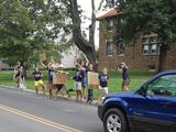 A scene from 2009's pre-orientation arrival day.