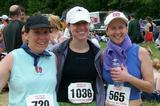 Faculty Celeste Friend, Jenny Irons, Katheryn Doran after the half marathon.