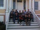 Hamilton students on the steps of the Grange, Alexander Hamilton's home in New York City.