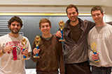 The Major Four-Teens: Seniors Gabe Mollica, Will Robertson, Jake Taylor and Andrew Rippel
