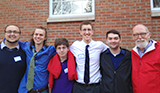 From left: Adam Daniere '16, Kenny Ratliff '16, Ben Oltsik '19, John Bennett '16, James Vees '16 and Prof. Richard Bedient.