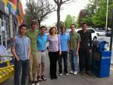 From left Alex Dao, Nate Schneck, Billy Wieczorek, Myriam Cotten, Daryl Berke, Matt Baxter and Wynn Stateman.