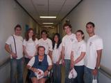 First-year Bonner leaders at the Veterans' Hospital in San Juan.