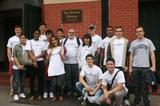 Professor Erol Balkan and Program in NY students at the Bowery Mission.