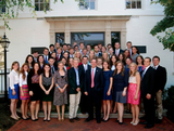 Brandon DeGraff '14 (front, center) with Republican National Chairman Reince Priebus and other interns.