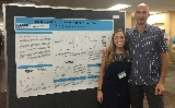 Martina Brave '17 with Dr. Antonio Di Cristofano at an Albert Einstein SURP poster session.