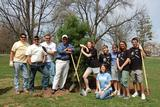 Members of HEAG and Hamilton's grounds crew planted a white pine tree on Arbor Day.