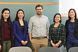 From left: Maria Saenz '19, Lisa Yang '17, Greg Casey '09, Elizabeth Tran '18 and Sarah Magee '18.