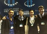 Tsion Tesfaye '16, Sharif Shrestha '17, Ryan Ong '16 and Jose Vazquez '15 at CGI U.