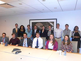 Students and alumni at the D.C. Media Panel.