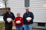 Terry Hawkridge and Norm Bramley from Physical Plant and Jeanne Roback from the Country Pantry (center).