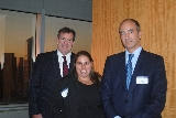 From left to right: Dan Connolly '85, P'18; Stacy Sadove '07; Joe Serino '85
