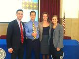 Fed Challenge finalists Danny Kaufman, Eric Boole, Amanda Thorman and Aislinn Shea.