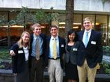 From left, the Fed Challenge Travel Team: Seniors Mallory Dawson, Thomas Cheeseman, Matt Poterba, Chris Shi, Dan Bartus.
