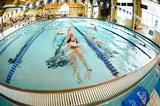 Swimmers compete in the Bristol pool.