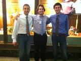 Nicholas Solano '14, Evan Warnock '14 and Eren Shultz '15 at the Harvard conference.