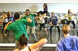 Yan Pang '10 demonstrated hip-hop in Elaine Heekin's dance class on Monday, Oct. 11.