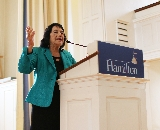 Dolores Huerta speaks in the Chapel on April 24.