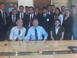 Students in the Washington Program with Stuart Ingis '93 and Birch Bayh.