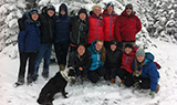 Maurice Isserman's Adventure Writing class explored the snow atop Blue Mountain on Oct. 26.