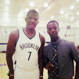 Jeremy Mathurin '16 with Joe Johnson of the Brooklyn Nets.